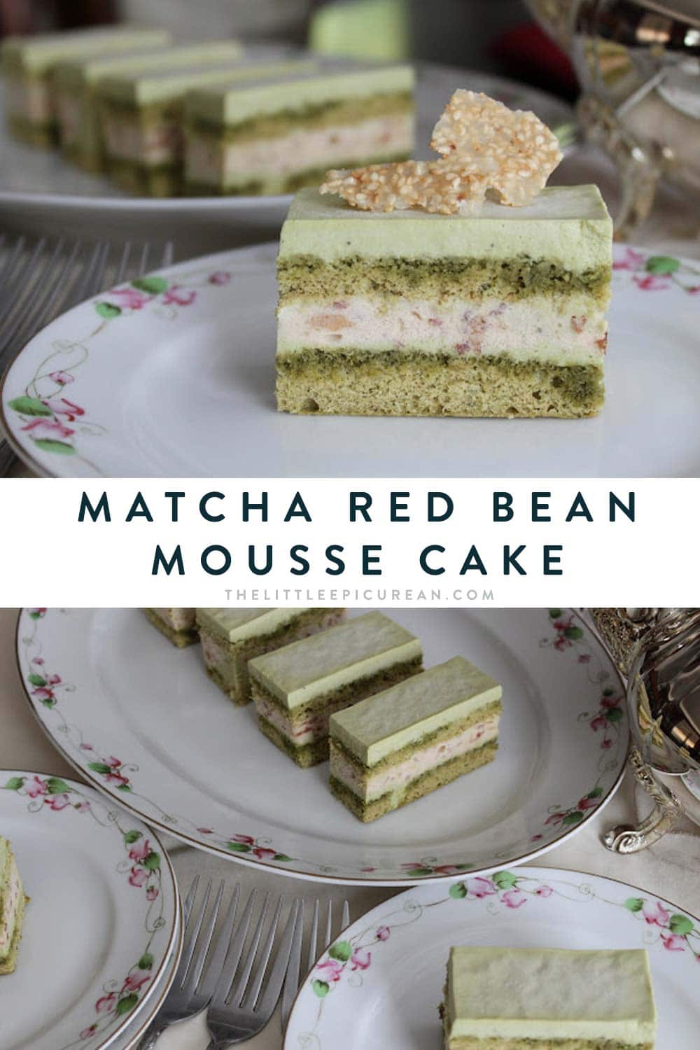 Matcha Red Bean Mousse Cake