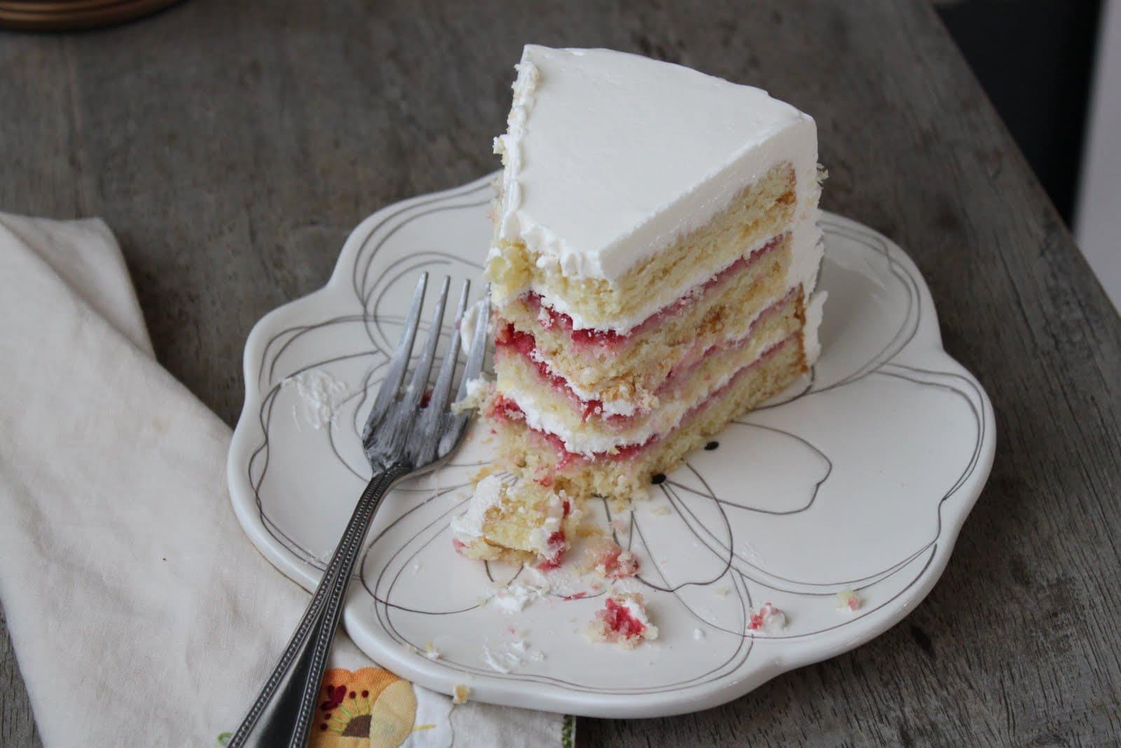Lemon Raspberry Layer Cake- The Little Epicurean