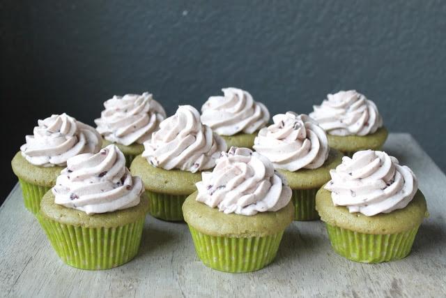 Matcha Azuki Cupcakes
