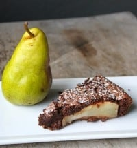 flourless chocolate pear cake