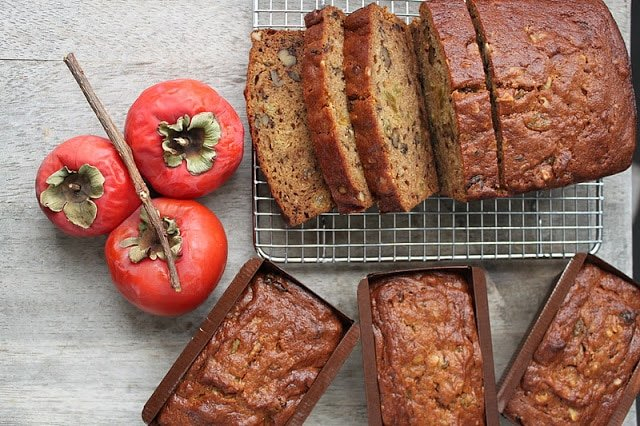 Walnut Persimmon Bread