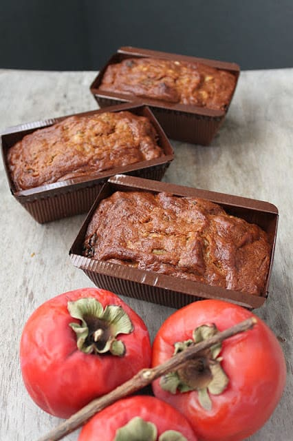 Persimmon Walnut Cake