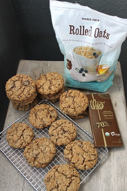 Flourless Chocolate Pecan Oatmeal Cookies