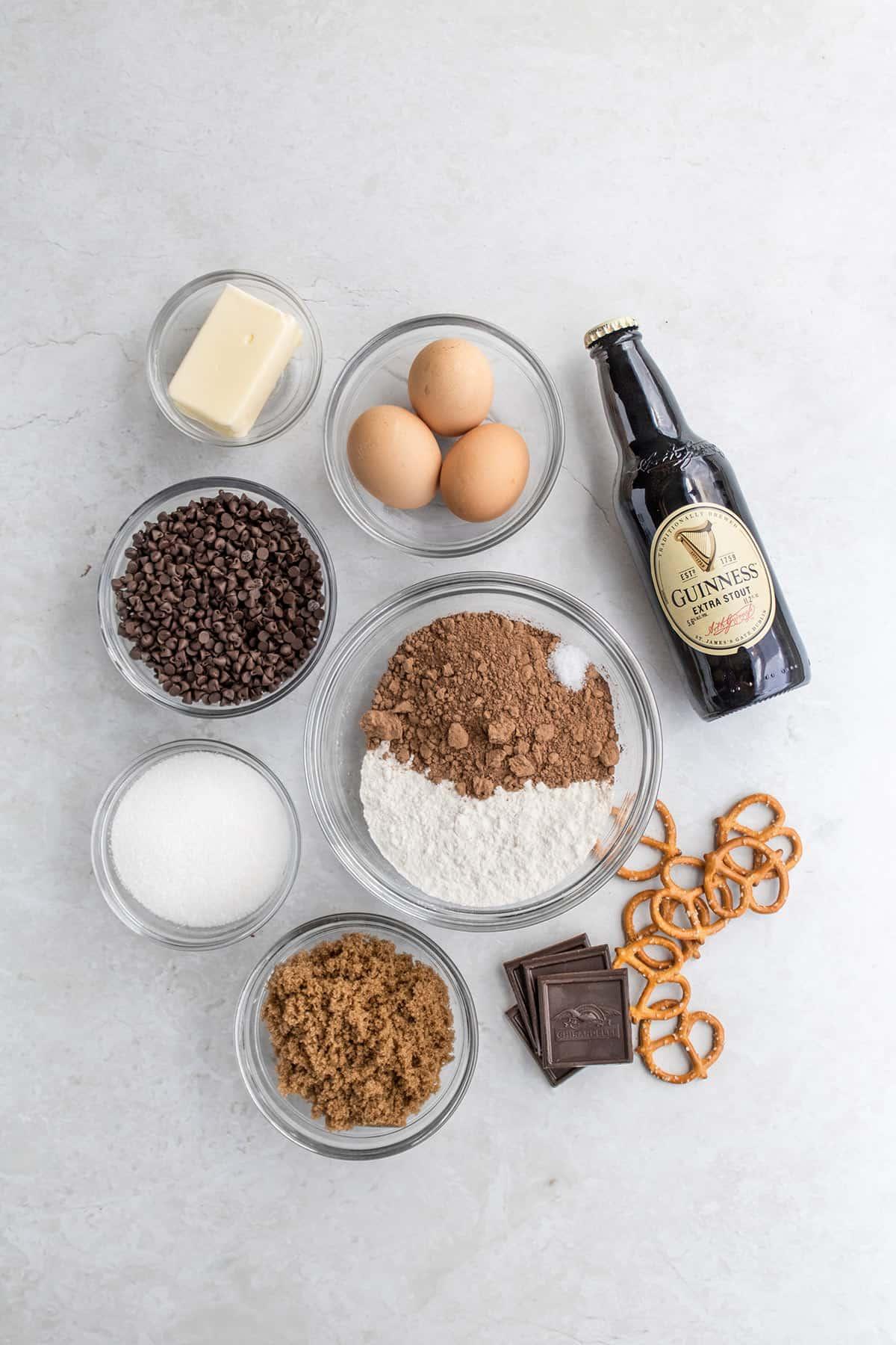 Guinness brownies ingredients