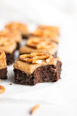 Guinness brownies with butterscotch fudge