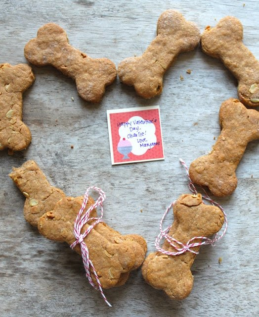 Peanut Butter Oats Dog Bone Biscuits