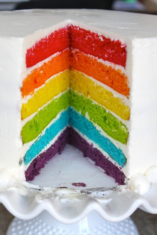 Recipe of seven layer rainbow cake