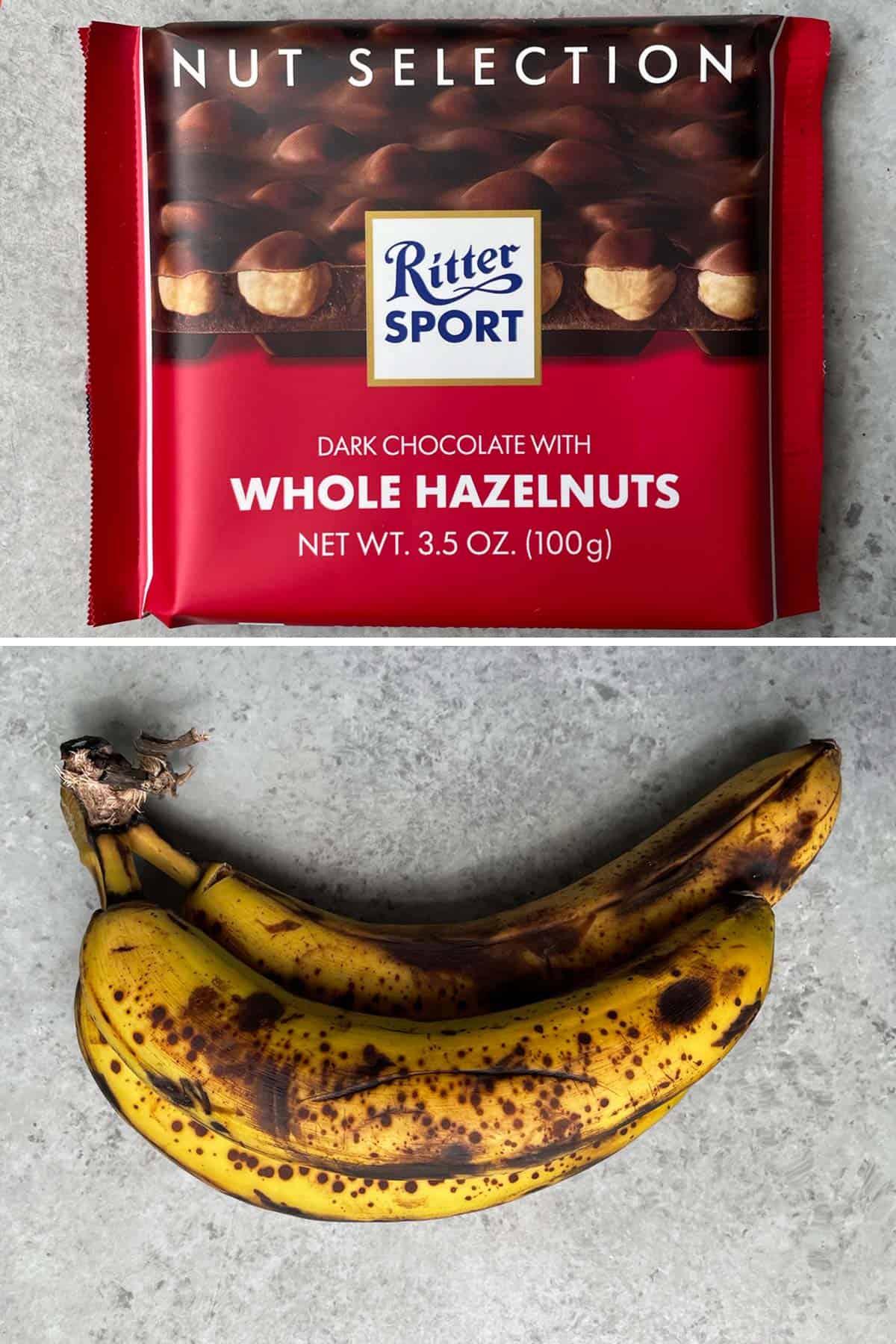 Choco-Hazelnut Banana Bread