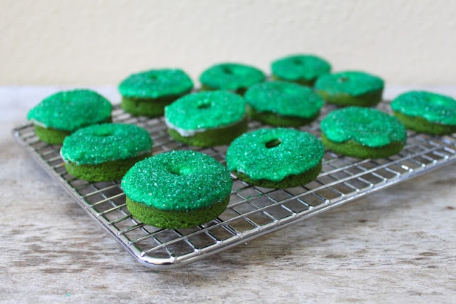 Green Velvet Donuts