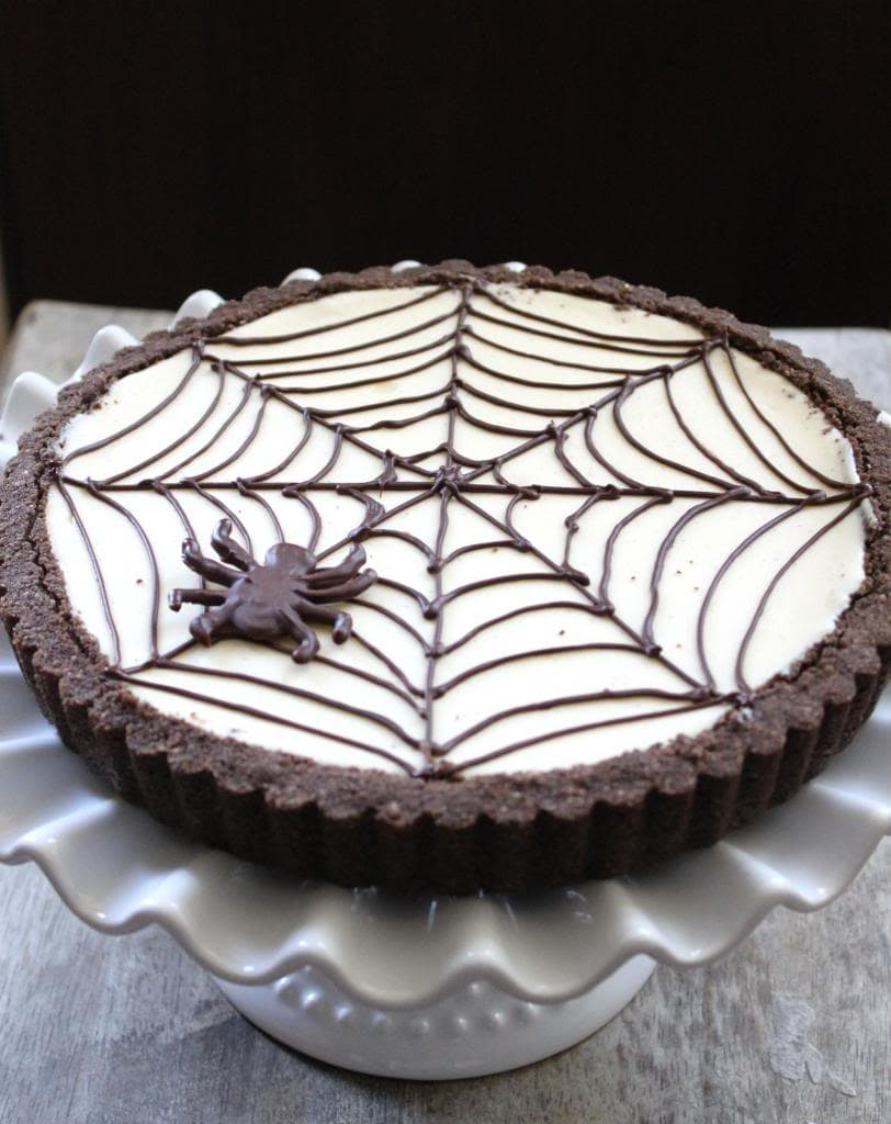 Spider Web Cheesecake Tart