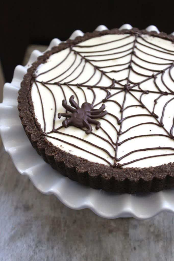 Spider Web Cheesecake Tart The Little Epicurean