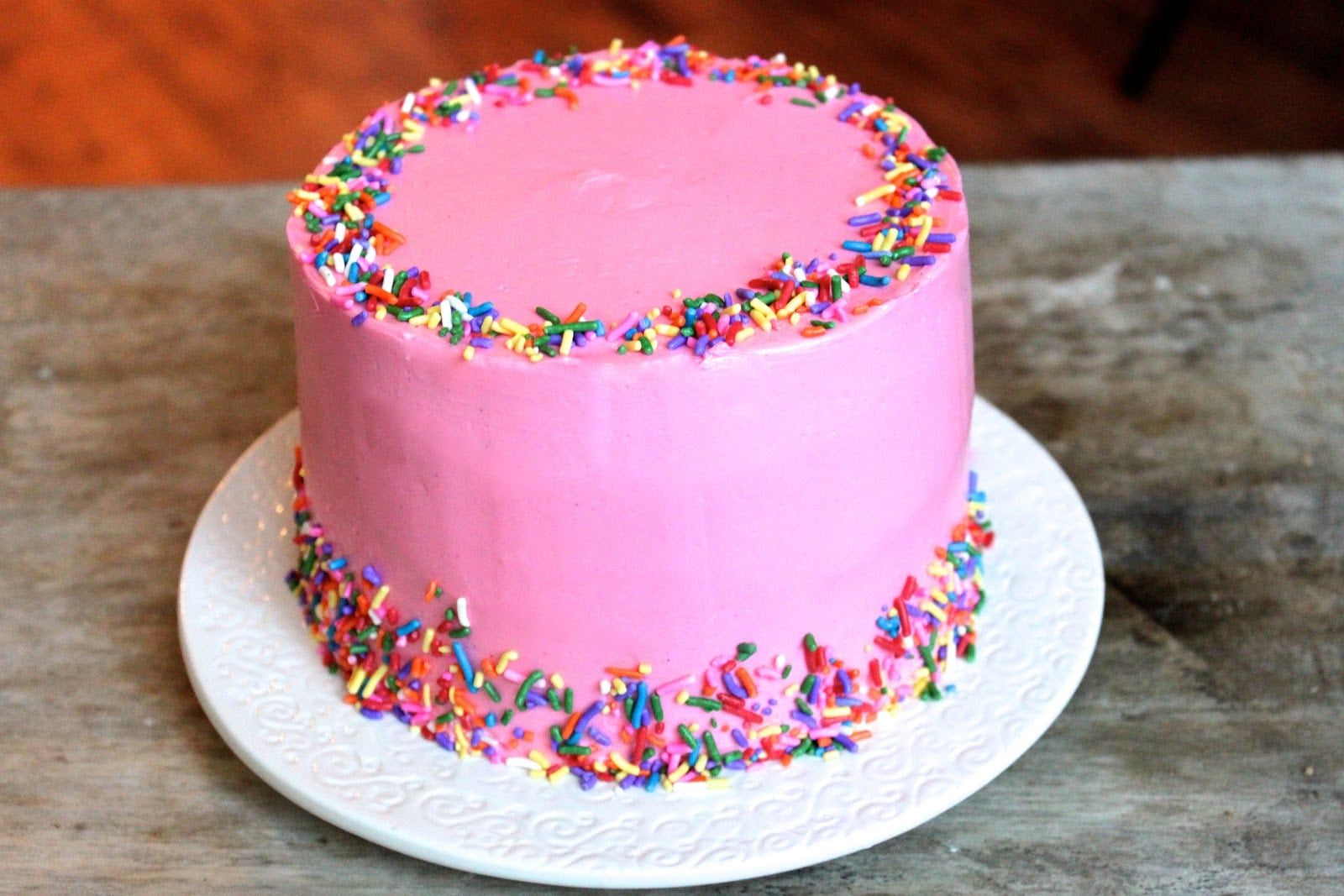 Pink Vanilla Bean Celebration Cake The Little Epicurean