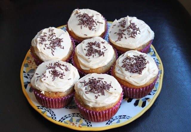 Banana Cupcakes with Peanut Butter Buttercream