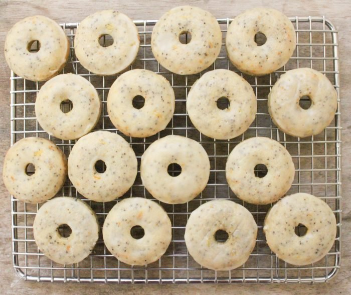 Orange and Poppy Seed Mini Donuts