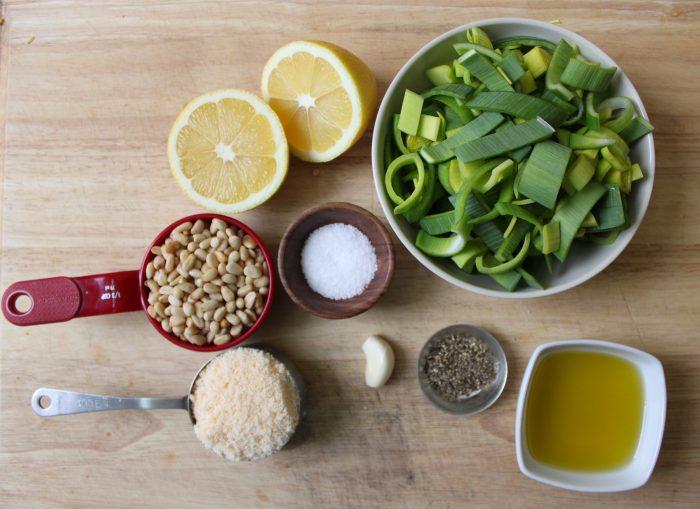 leek pesto ingredients