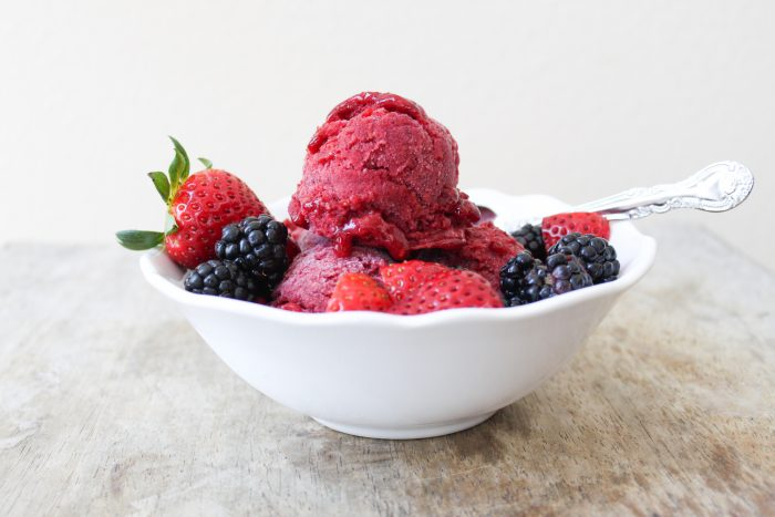 strawberry blackberry sorbet