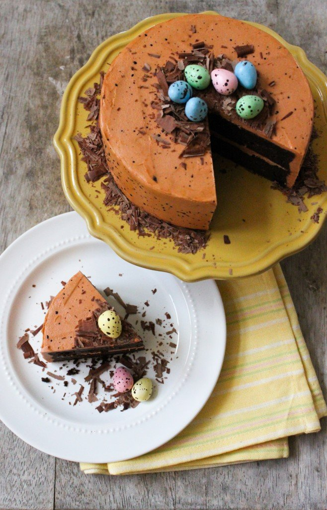 Speckled Egg Chocolate Fudge Cake | the little epicurean