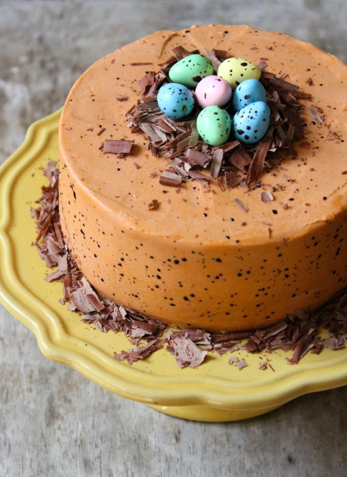 Speckled Egg Chocolate Cake | the little epicurean