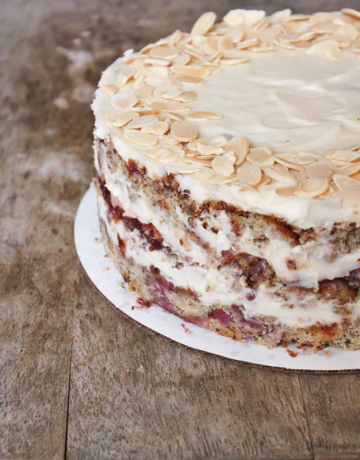 Four-Layer Cake With Raspberry Whipped Cream & Mixed Berries Recipes ...