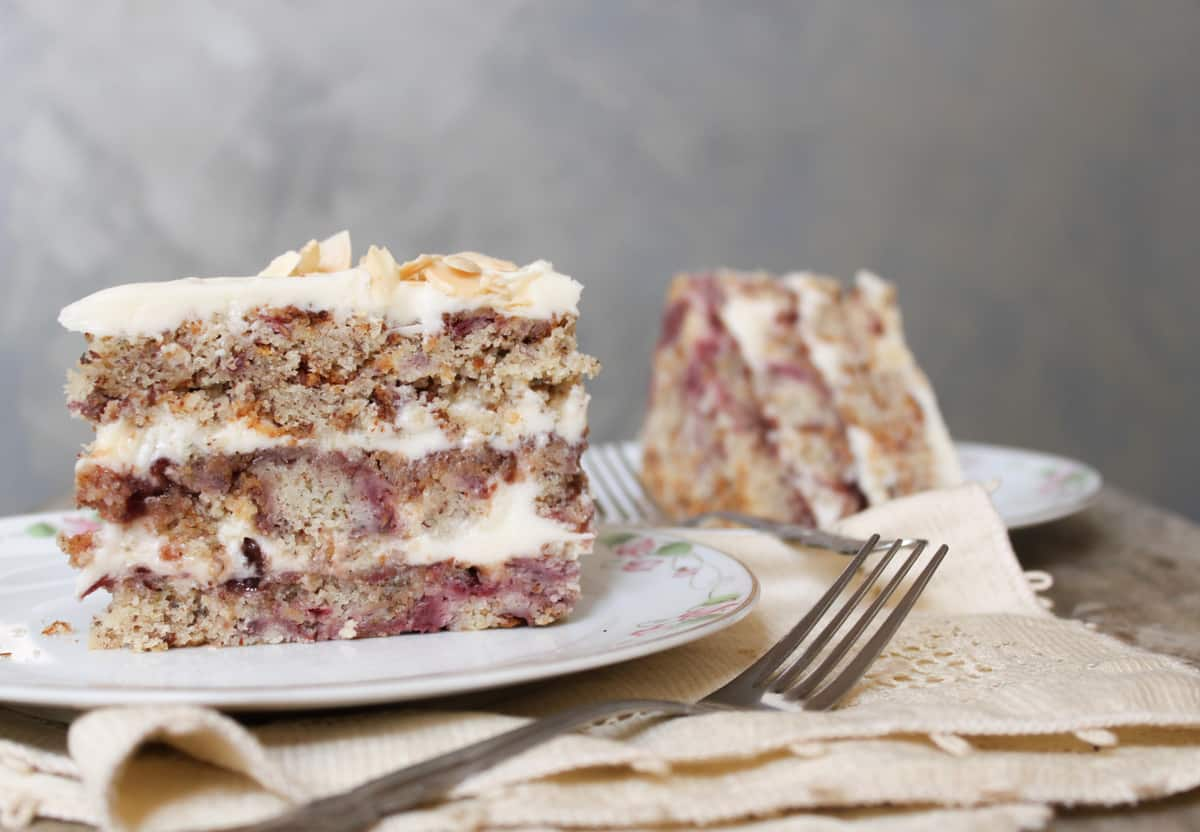 Raspberry Almond Layer Cake-The Little Epicurean