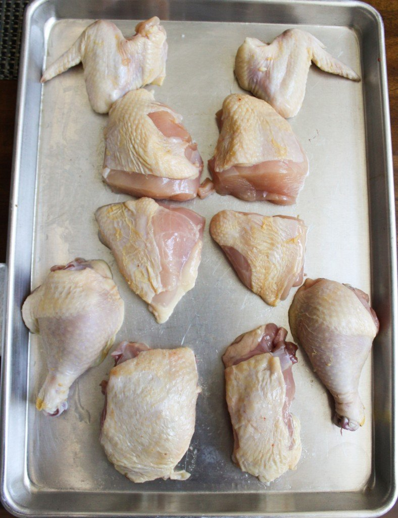 whole chicken cut into 10 pieces
