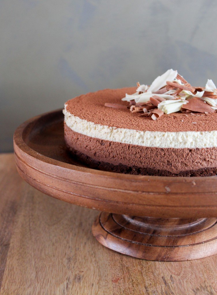 chocolate and white chocolate mousse espresso chocolate cake with ...