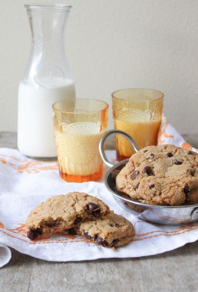 orange cardamon chocolate chip cookies