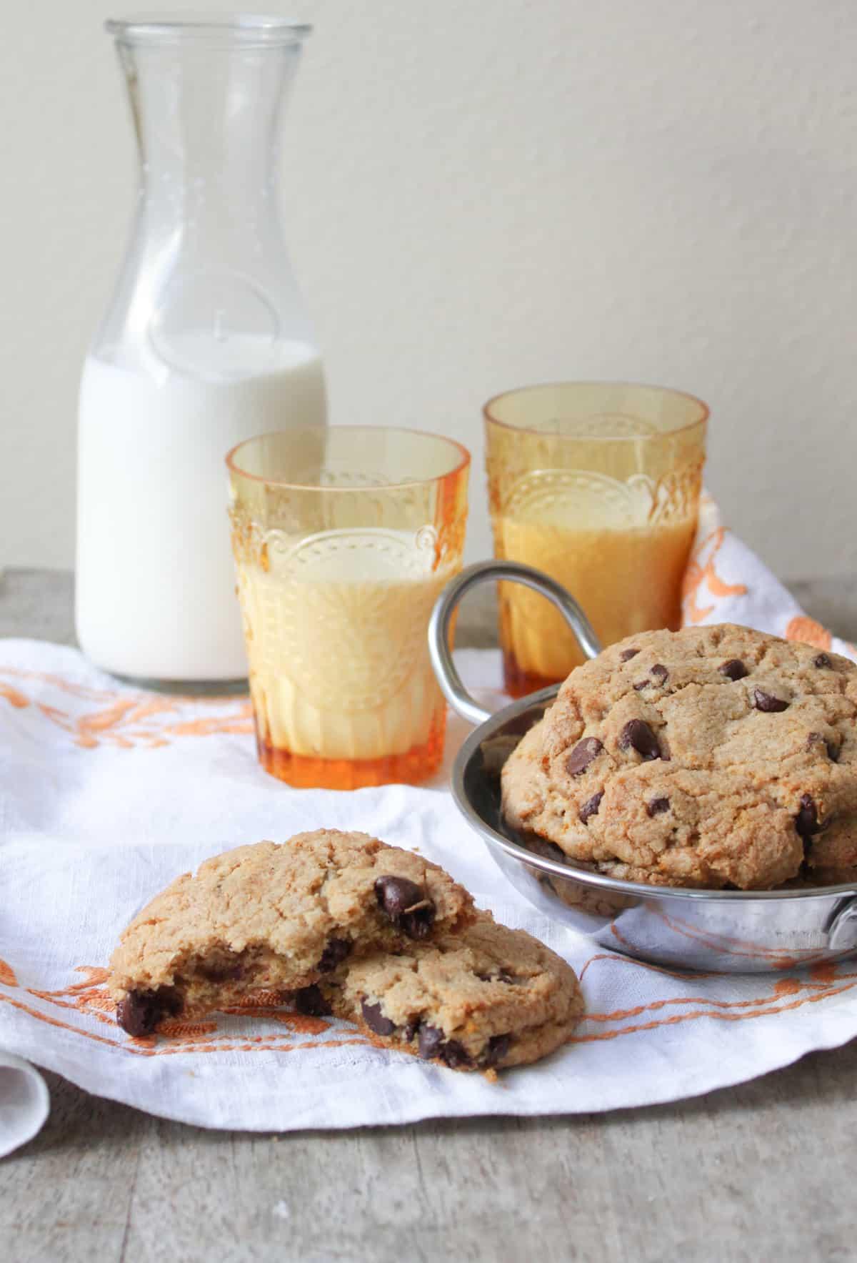 Orange Cardamom Chocolate Chip Cookies - The Little Epicurean