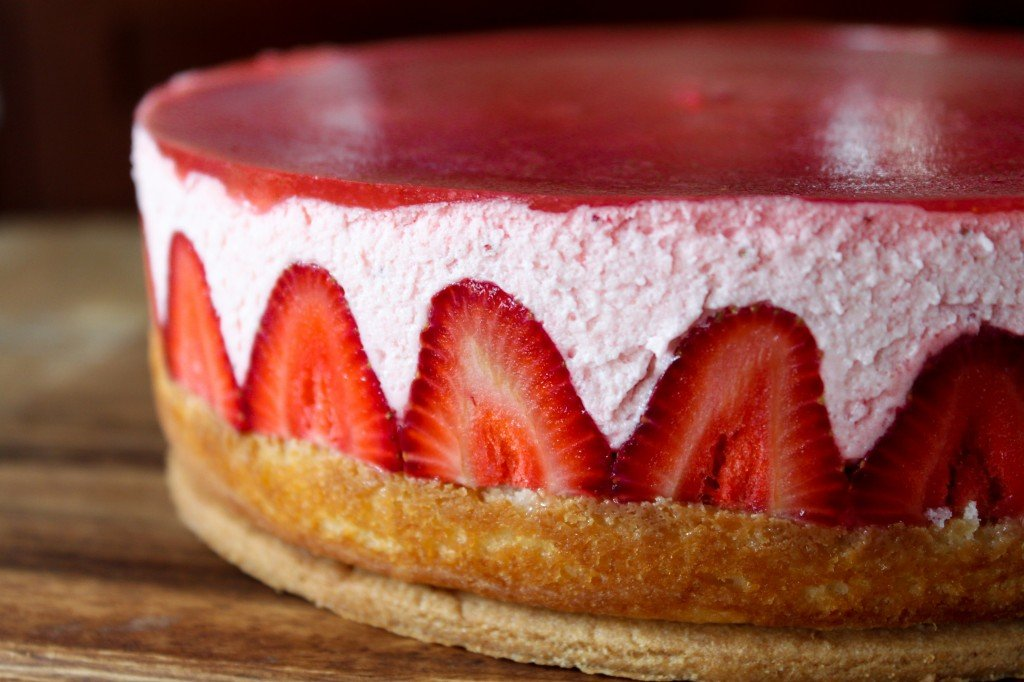 Strawberry Yogurt Mousse Cake - The Little Epicurean