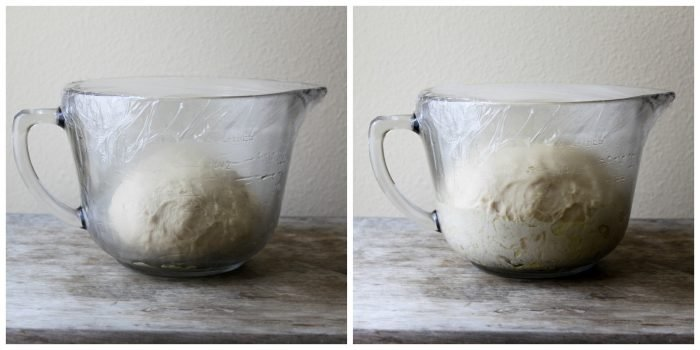 before and after dough