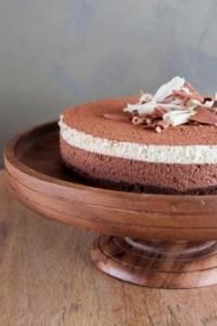 Dark Chocolate White Coffee Mousse Cake