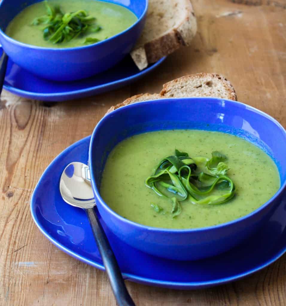 Zucchini Basil Soup - The Little Epicurean