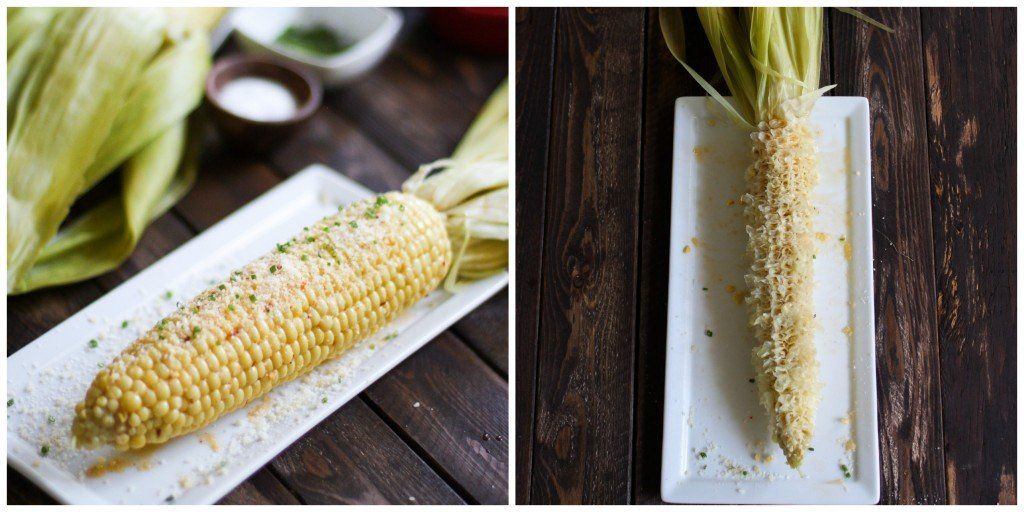 before and after corn