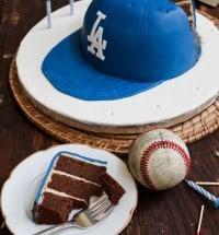 dodger cap cake