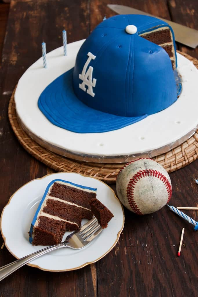 Admirable Baseball Cap Cake The Little Epicurean Funny Birthday Cards Online Fluifree Goldxyz