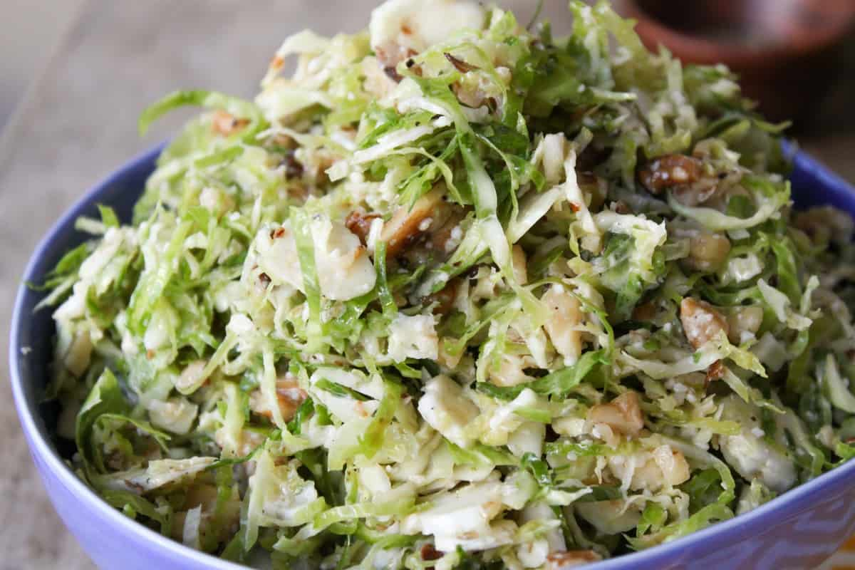 Shaved Brussels Sprouts Salad - The Little Epicurean