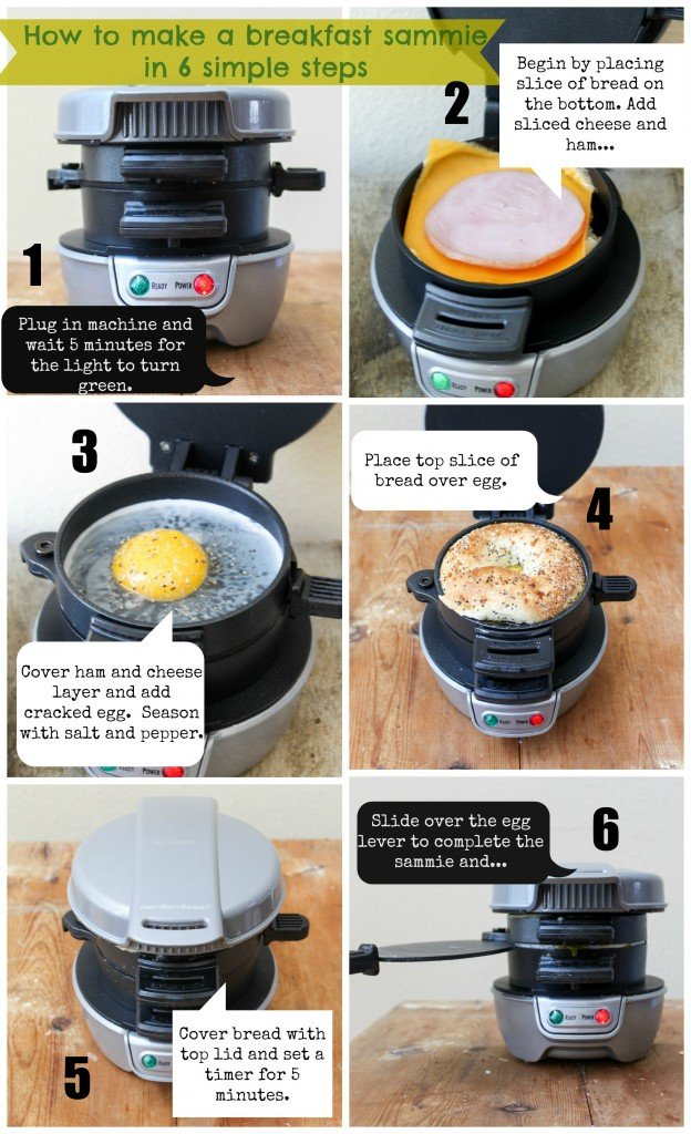 Completed Breakfast Sandwich Steps