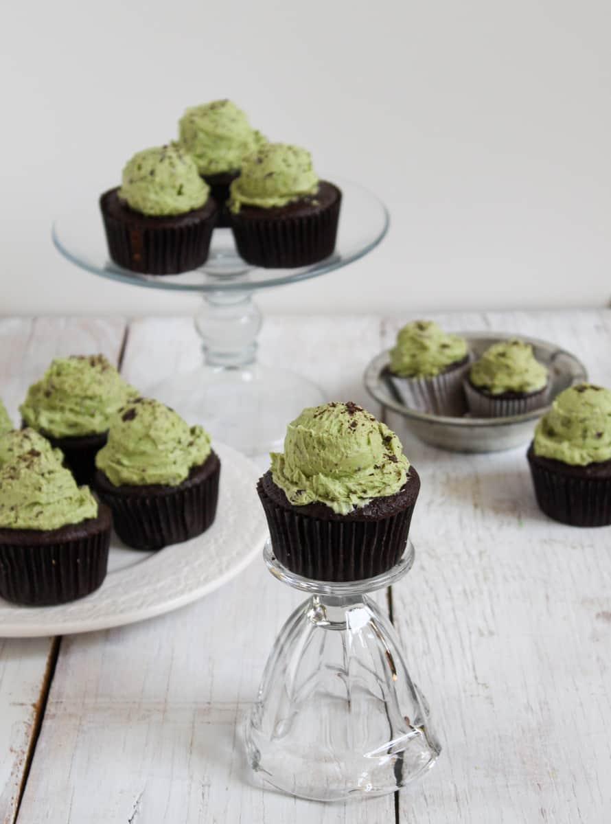 Mint Chocolate Chip Cupcakes - The Little Epicurean