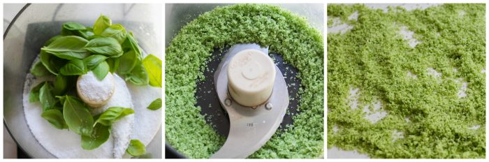 How to make basil salt using food processor
