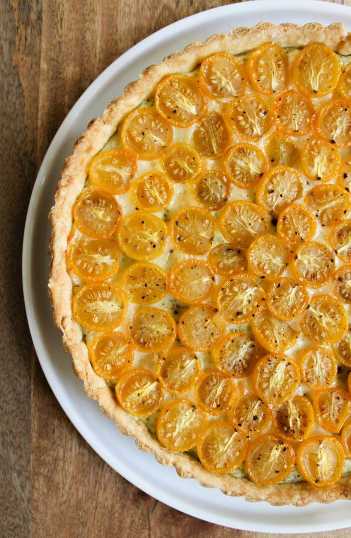 TheLittleEpicurean_cherry tomato pesto tart