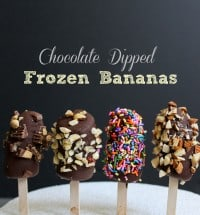 Chocolate Dipped Frozen Bananas