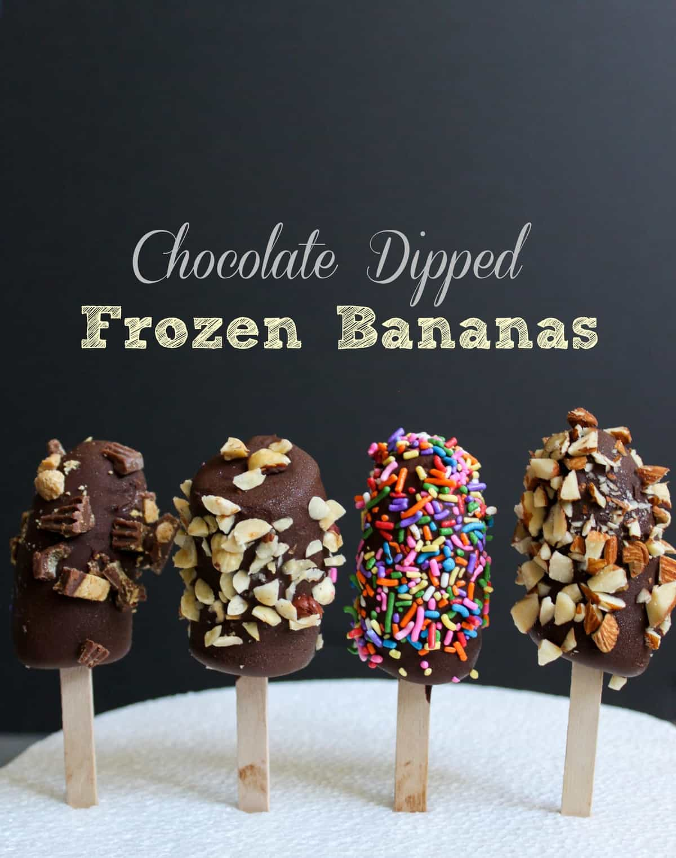 ... chocolate dipped frozen banana i love frozen bananas if you do not