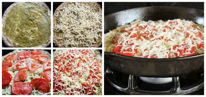 How to make Pesto Pizza stovetop