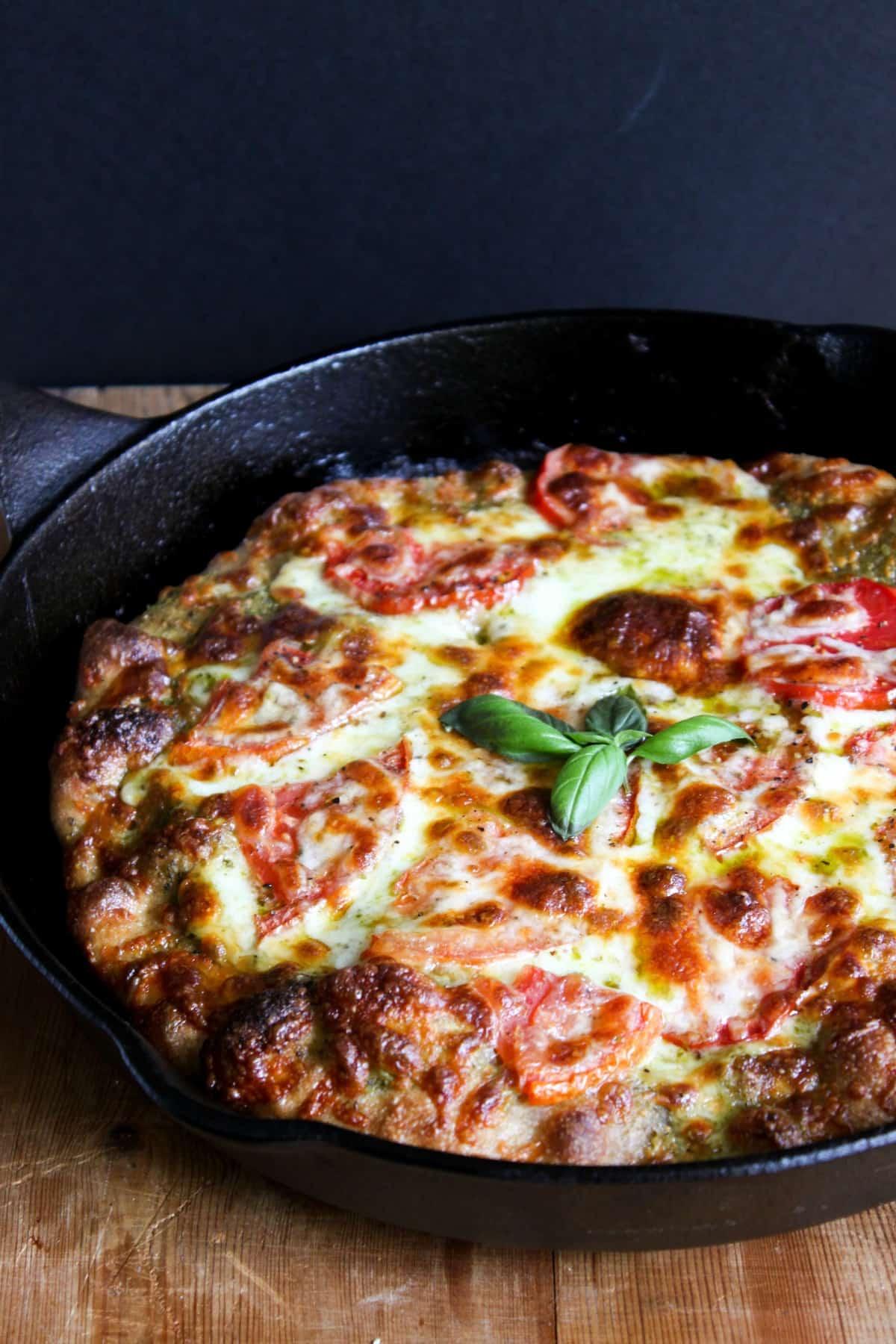 Pesto Pizza and Basil Salt- The Little Epicurean