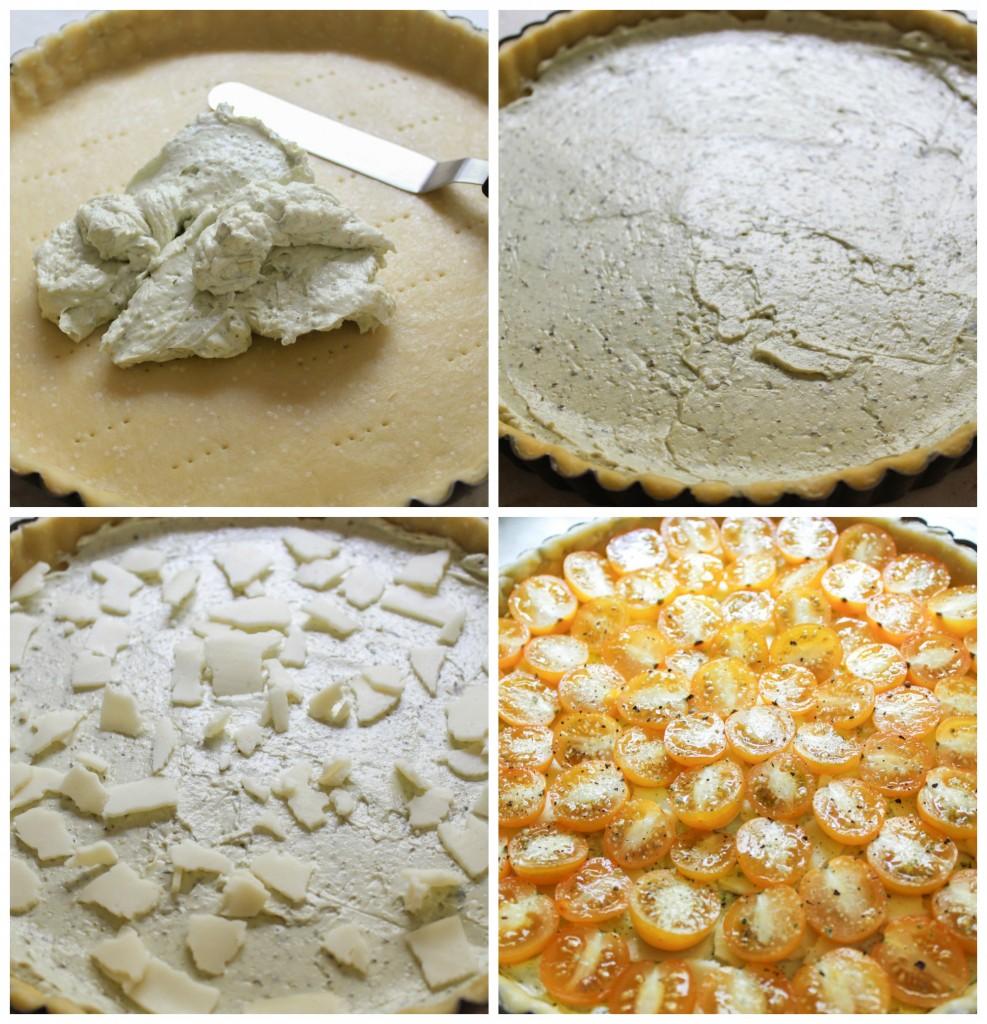 filling the tart