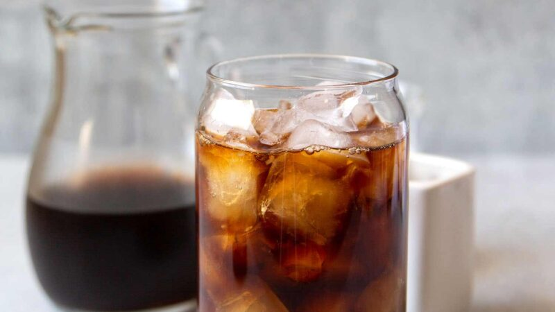 iced cold brew coffee black