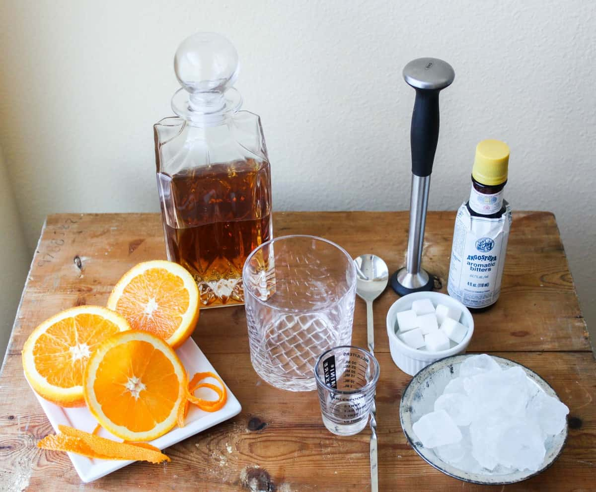 old fashioned drink list of ingredients