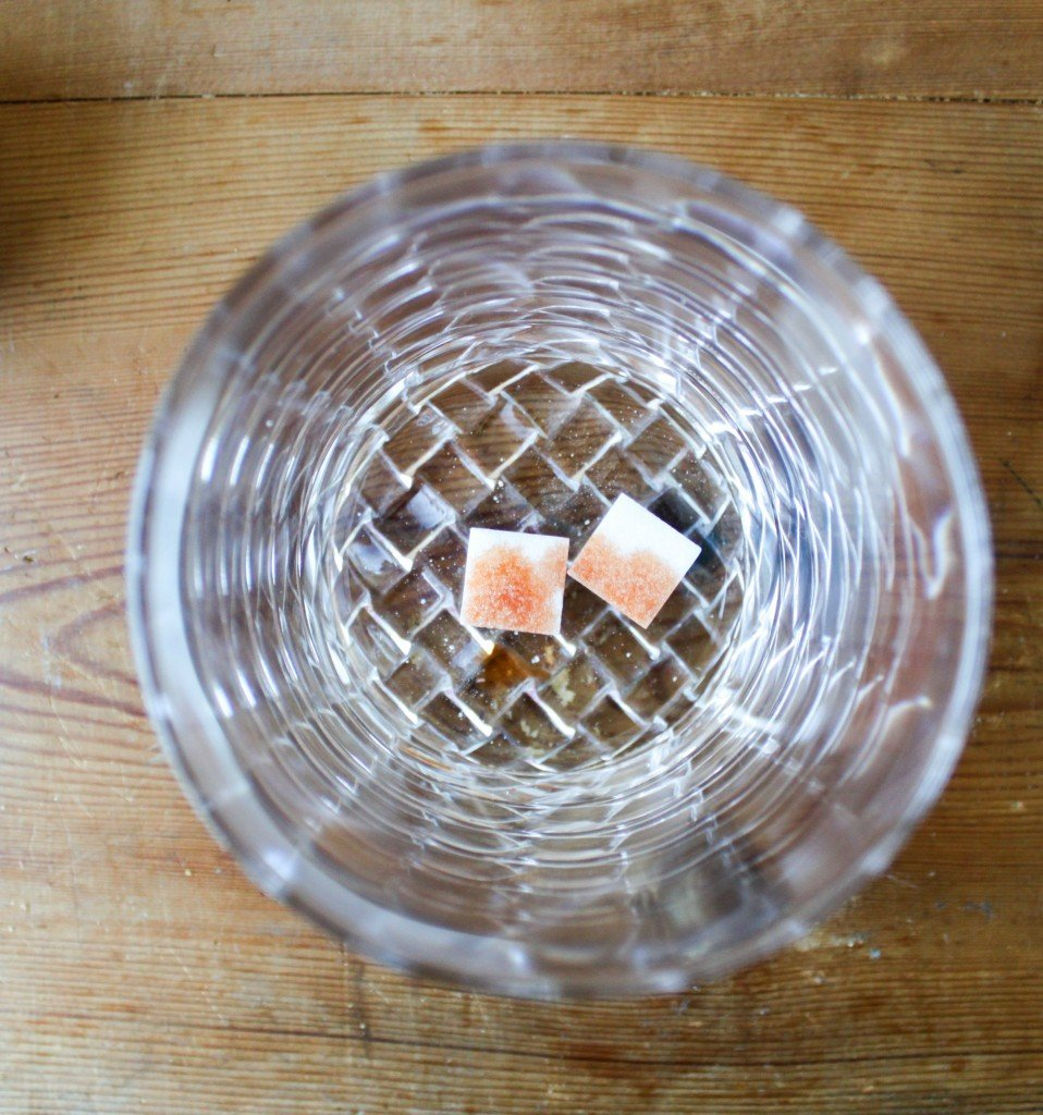 sugar cubes with bitters