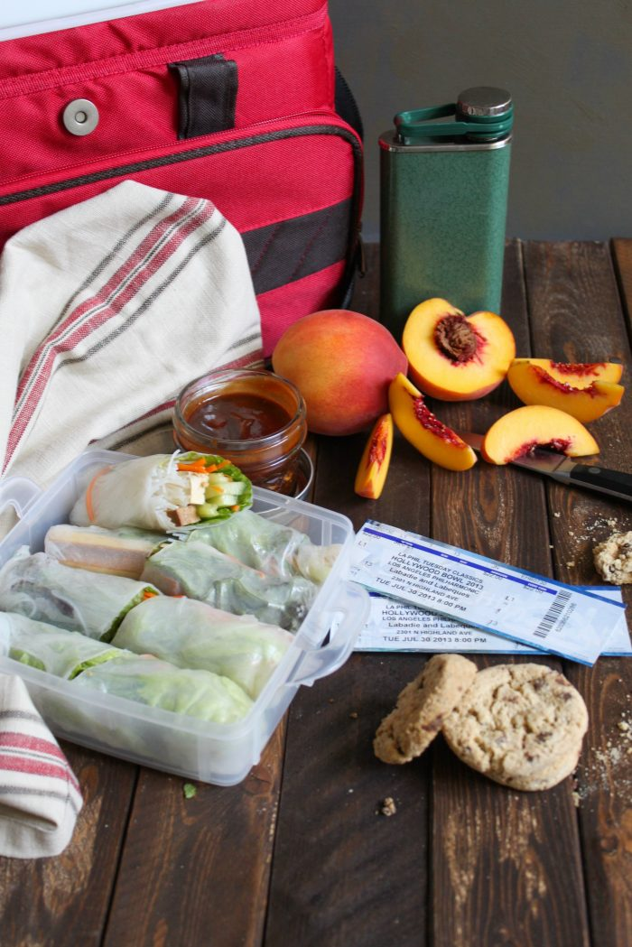 Vegetarian Spring Rolls with Peanut Hoisin Sauce