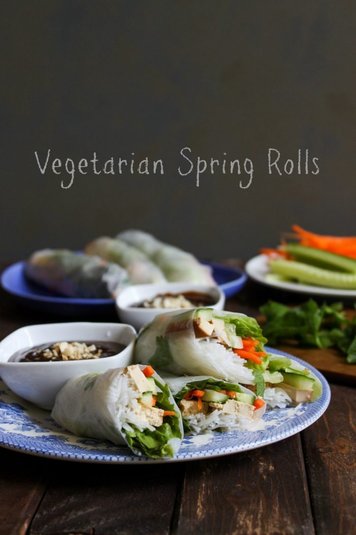 Vegetarian Spring Rolls with Hoisin Sauce